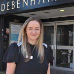 Julie Horsman took over the role of manager at Bedford's Debenhams in February.
