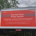 Bromham Road bridge closure billboard