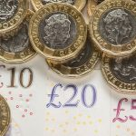 Pound coins and money