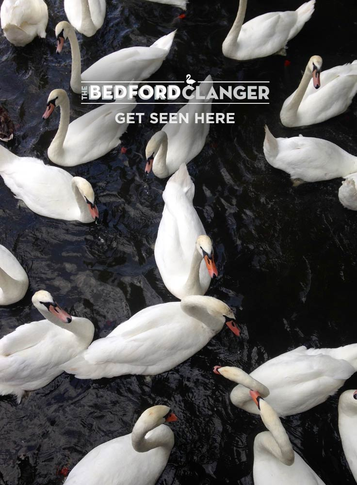 advertise with the Bedford Clanger