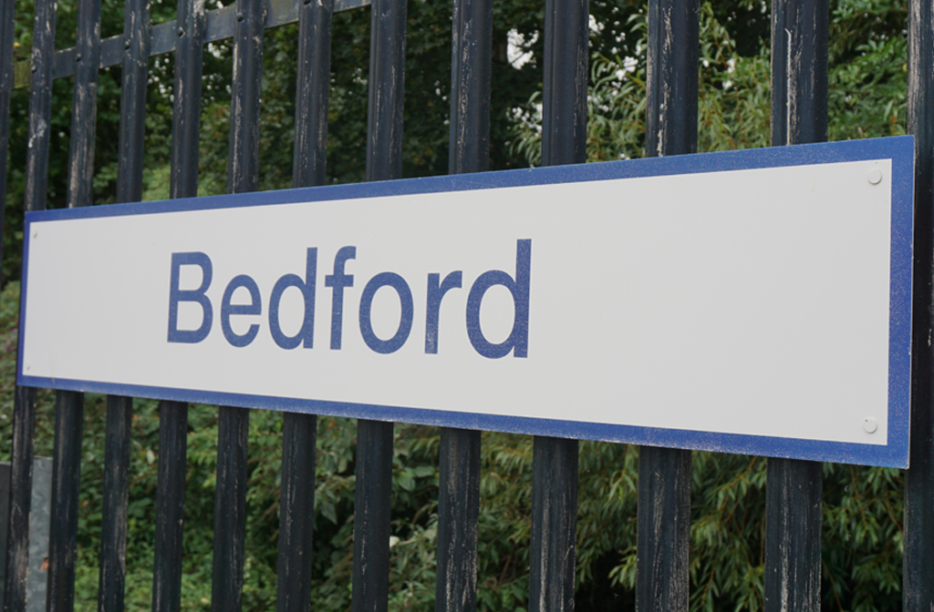 Bedford Station Sign