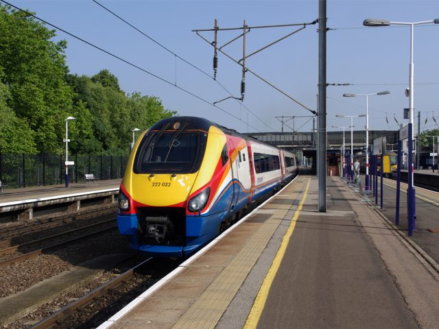 Bedford Train at Station