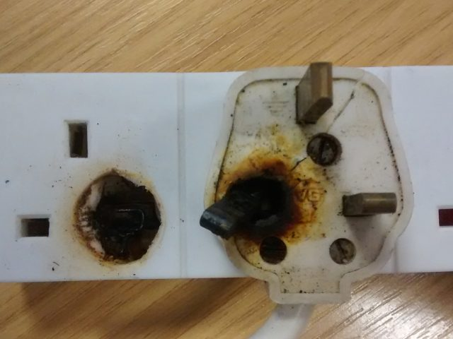 Burnt out plug