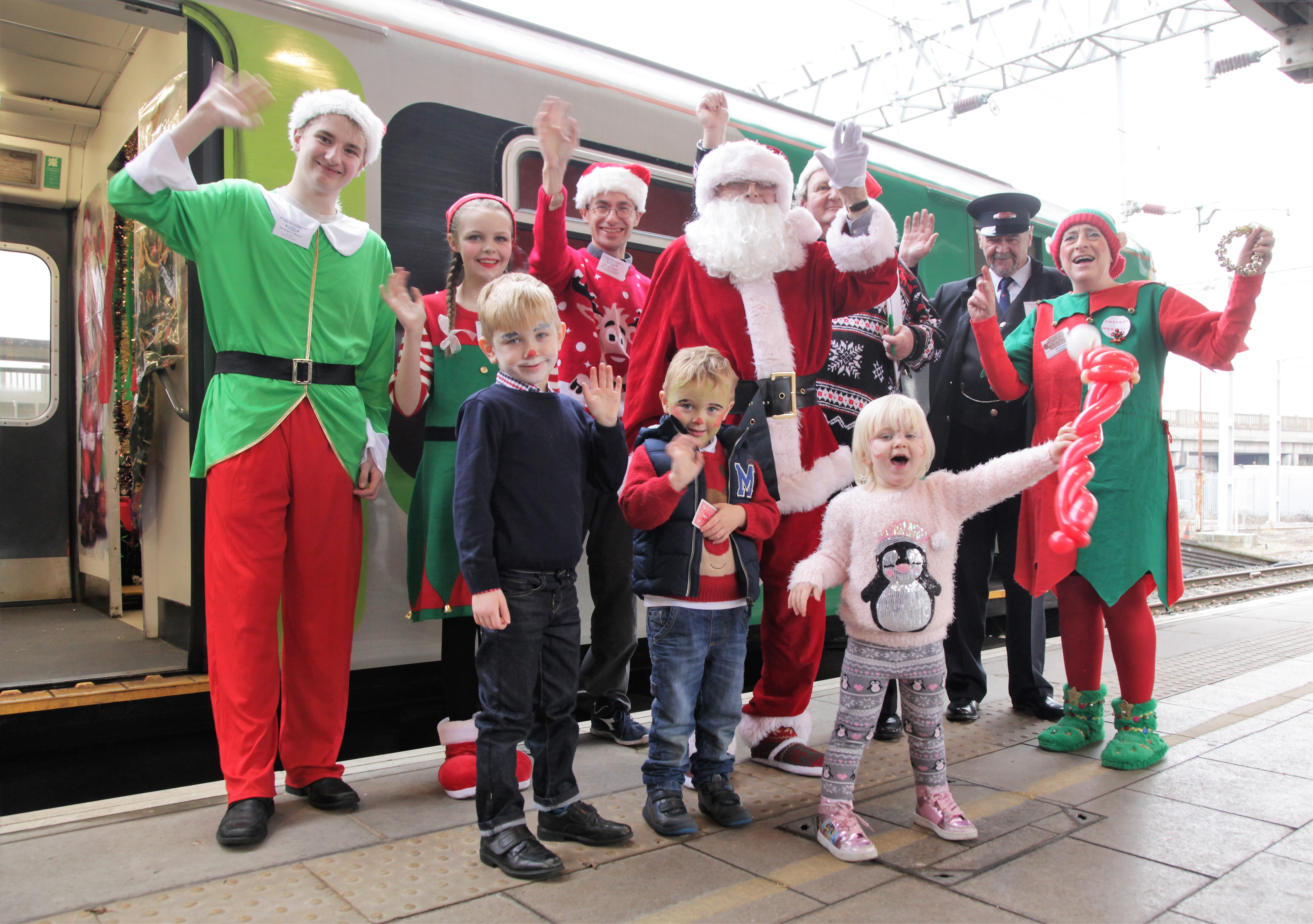 Santa Special 2016 - Group at Bletchley Station