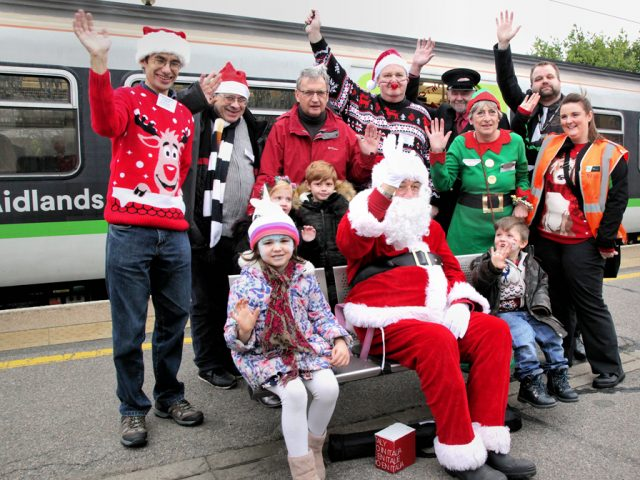 Santa Special Group Photo at Bedford Station 2018