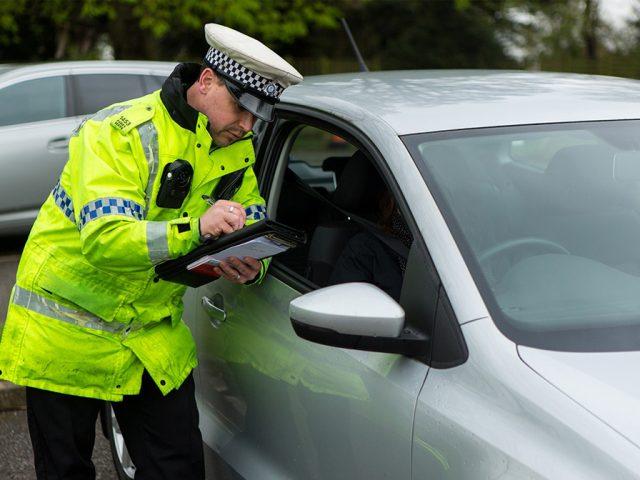 Traffic Police making enquiries