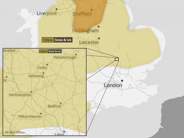 Yellow Warning 15 16 December