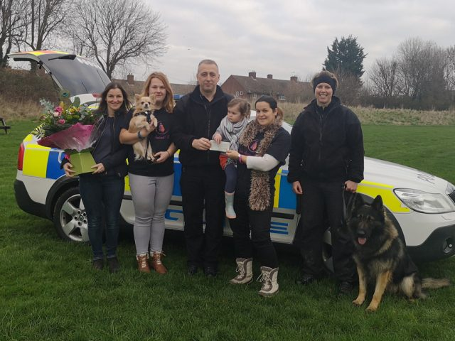 Harley Bedfordshire, Cambridgeshire and Hertfordshire Dog Unit Cheque handover