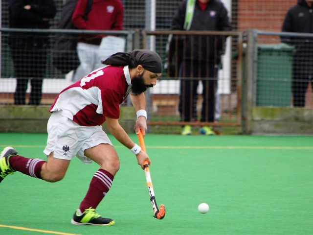 Dalbir Sehmbi in action for the Men's 4s 12 January