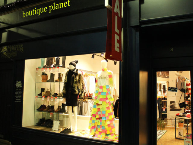 Save our M&S Planet Clothing Window Display13