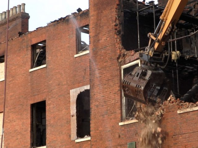 Shires House make safe demolition