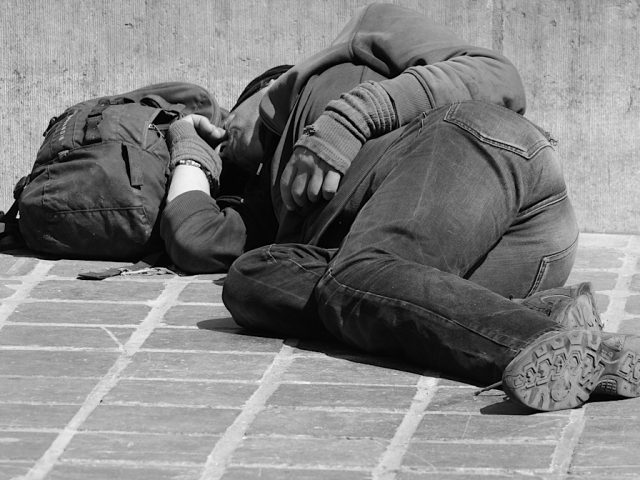 Rough Sleeper black and white