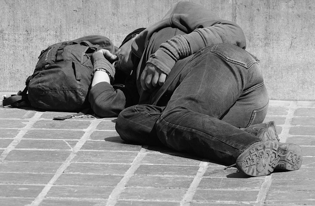 Rough Sleeper black and white