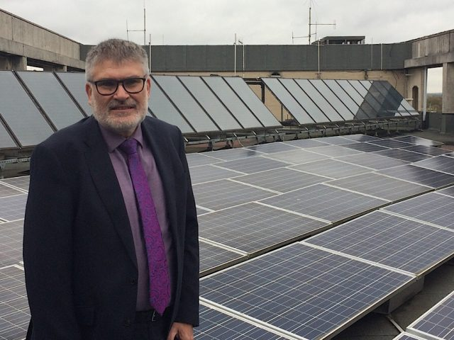 Mayor Dave solar panels