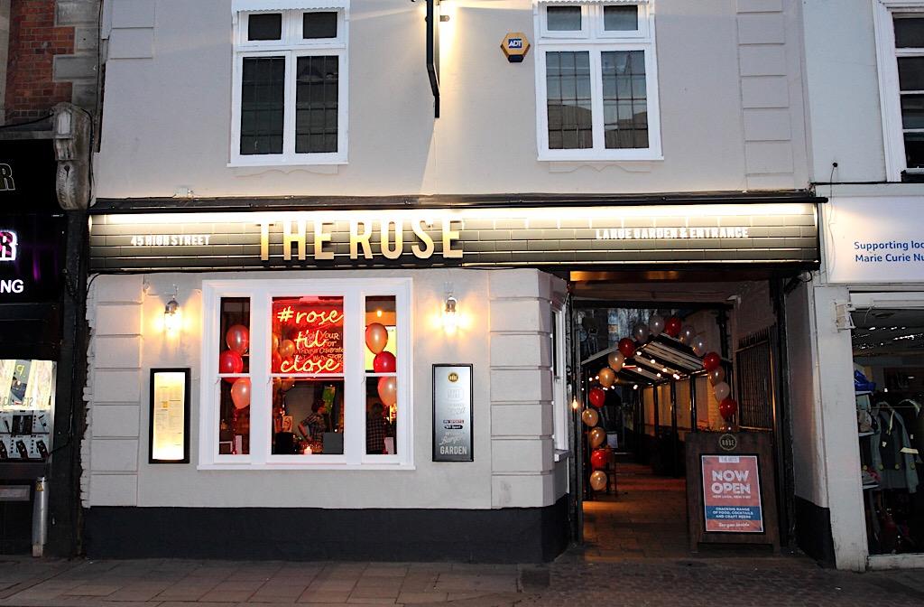 The Rose on Bedford High Street hosts world's biggest pub