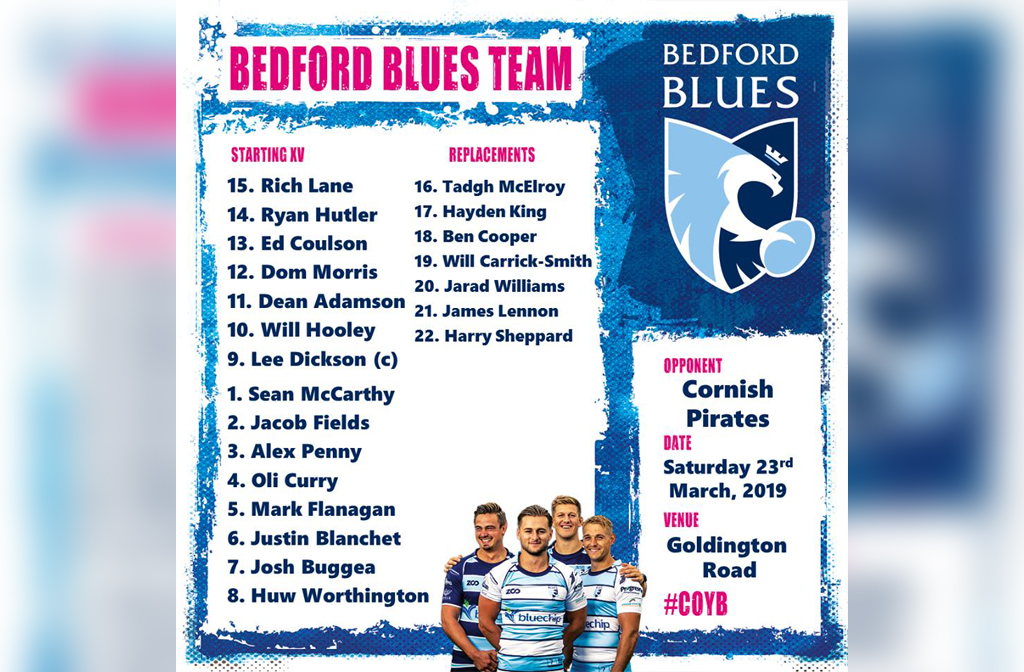 Blues v Pirates lineup 23 March