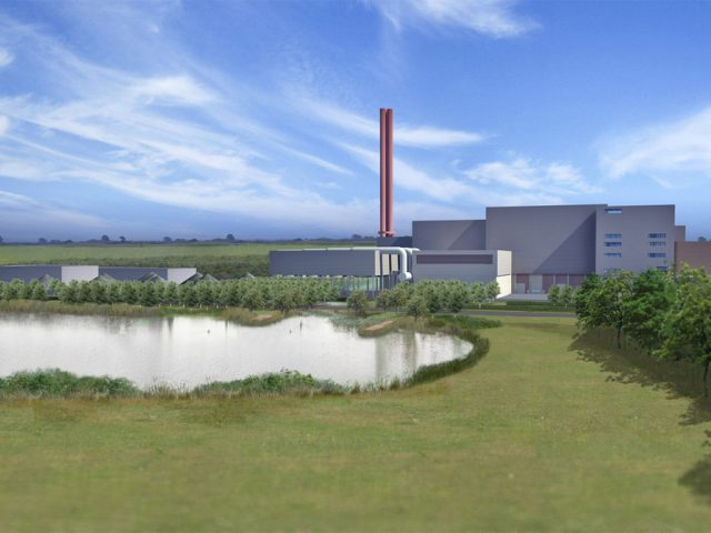 Covanta Incinerator at Rookery Pit Artist's Impression