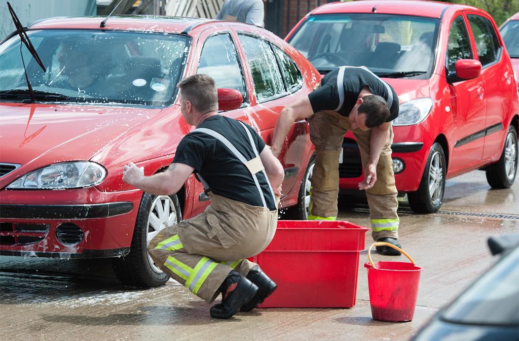 Firefighter car wash Bedford