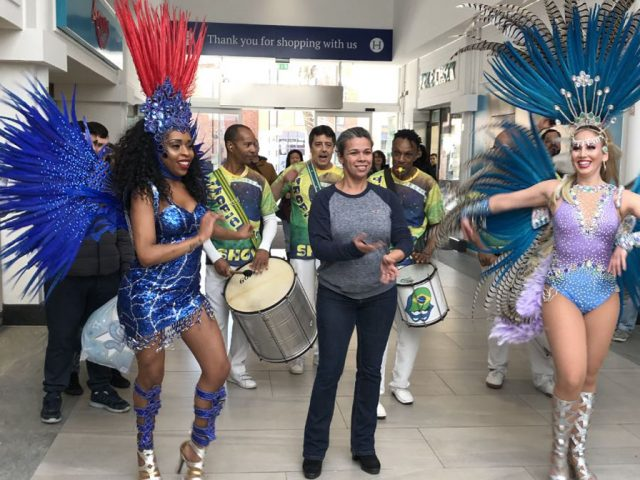 Harpur Refurb unveiling carnival dancers