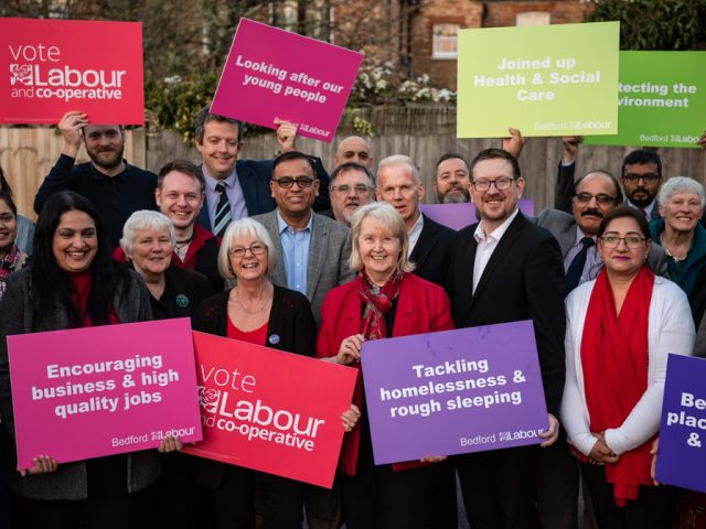 Jenni Jackson launches the Labour manifesto for Bedford Borough's 2019 Mayoral elections