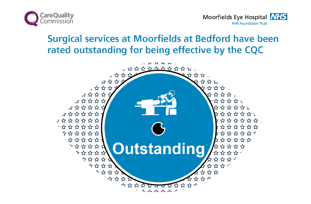 Moorfields Outstanding rating for surgical services