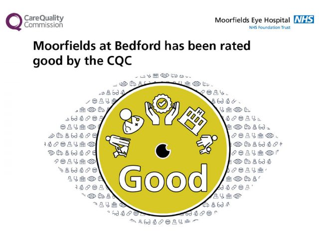 Moorfields overall good rating