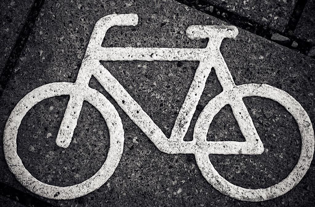 Cycle lane sign