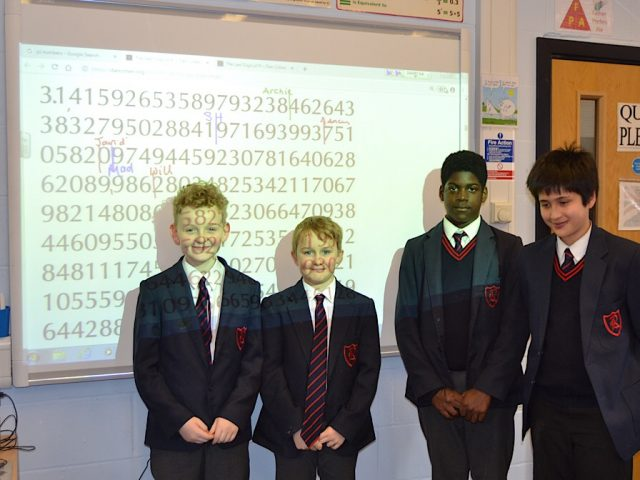 Pi day at Rushmoor School Bedford