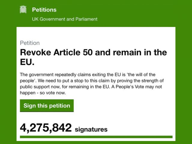 Revoke Article 50 Petition (23 March)