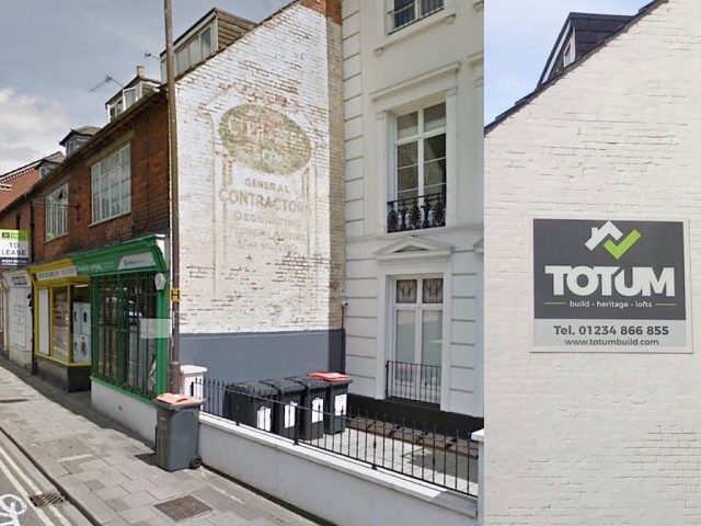 Union Street Ghost sign before & after