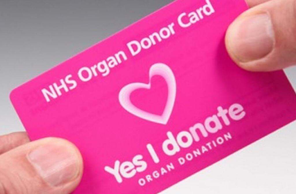 organ donor card