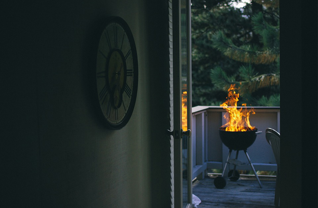BBQ fire safety kettle bbq