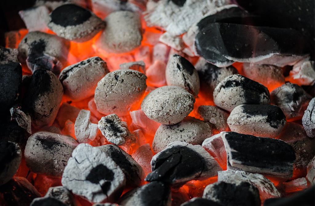 BBQ fire safety white coals