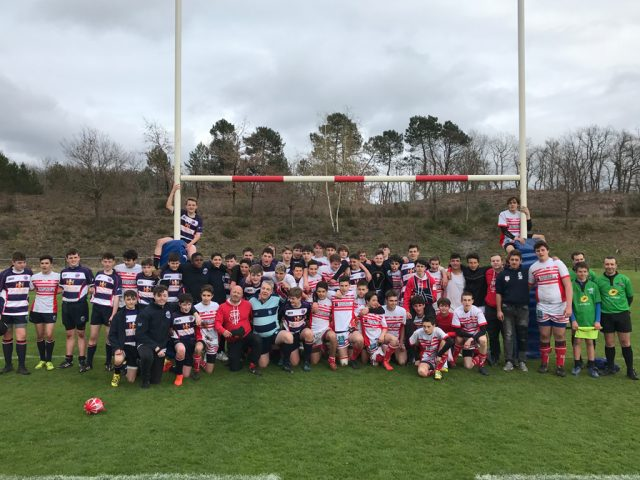 Bedford Junior Blues Under 16s with US Salles in France in 2018