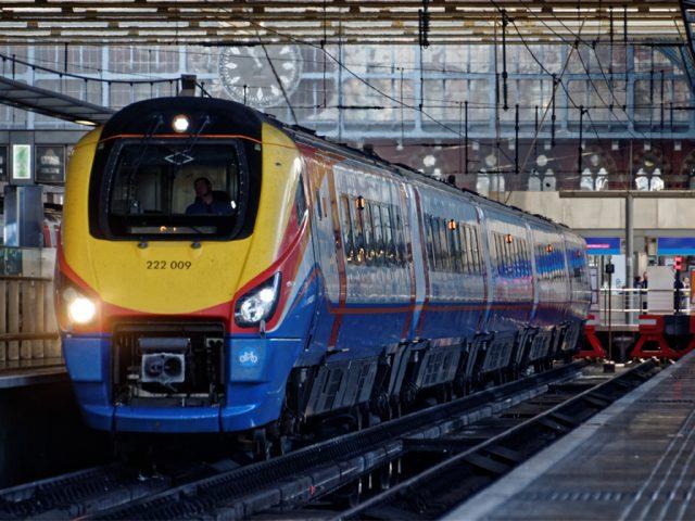 East Midlands Trains train at St. Pancras