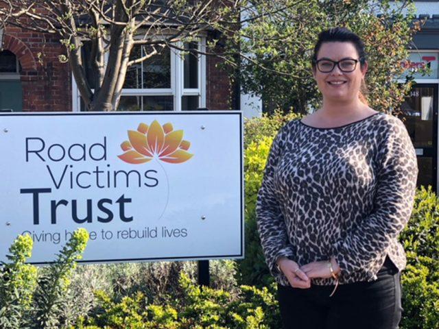 Katie Holmes Road Victims Trust Ambassador