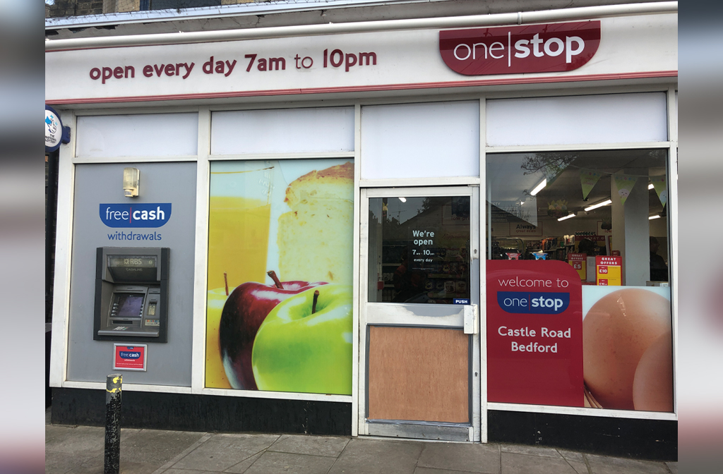 One Stop Castle Road break in 31 March close up