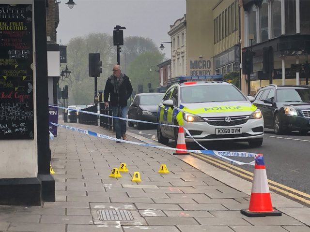 Police Forensic Markers Bedford High Street