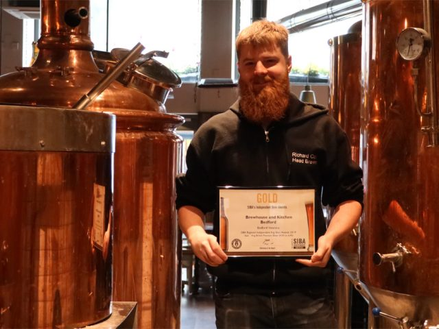Richard Cook Head Brewer Brewhouse and Kitchen Bedford SIBA Gold Award
