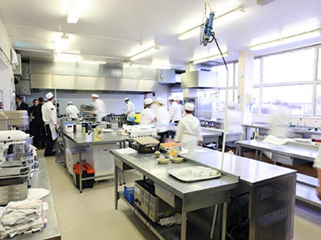 Bedford College catering kitchen