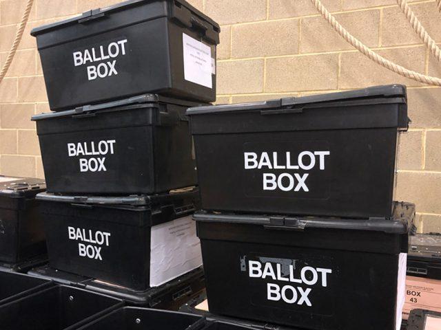 Ballot Boxes Bedford