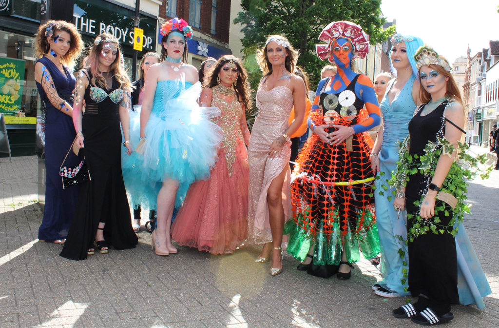 bedford college hair beauty traffic students town centre heads turn stop stopping paraded ahead week through styles last