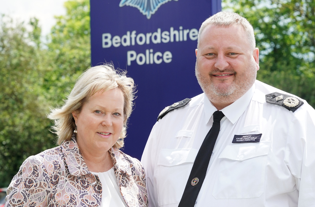 (l-r) PCC, Kathryn Holloway and current DCC, Garry Forsyth.