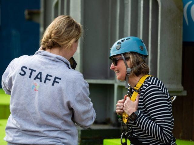 Bedford Independent's managing editor, Erica Roffe looked relieved after the jump.