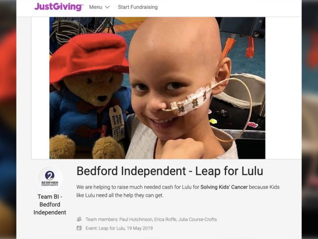 Leap for Lulu JustGiving