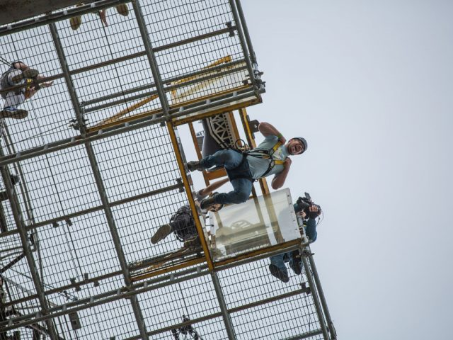 Bedford Independent's managing editor, Paul Hutchinson takes the leap.