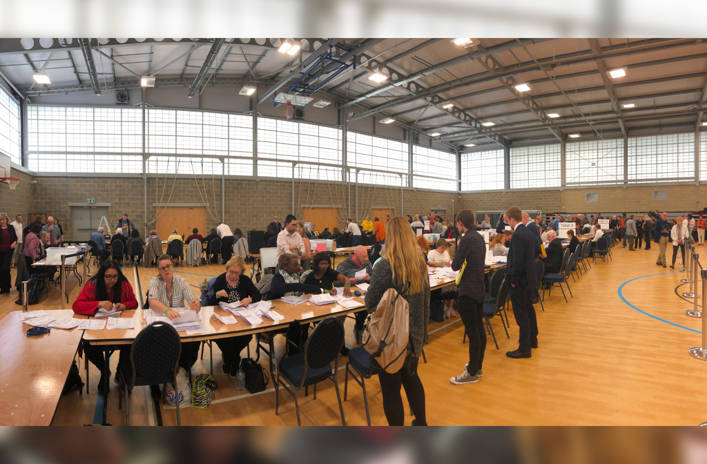 Local election count 2019 view of the counting floor