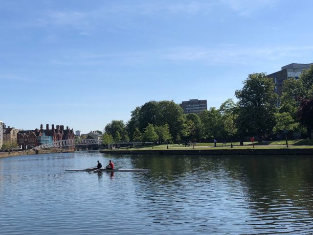 The River Great Ouse, Bedford: View from Star Rowing club.