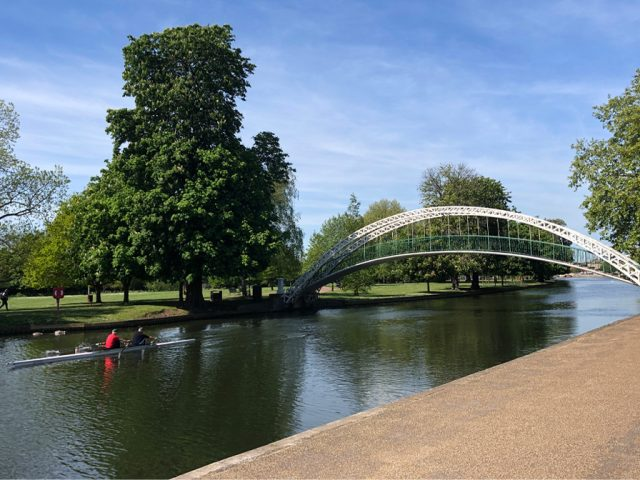 The River Great Ouse, Bedford: The Victorian suspension bridge