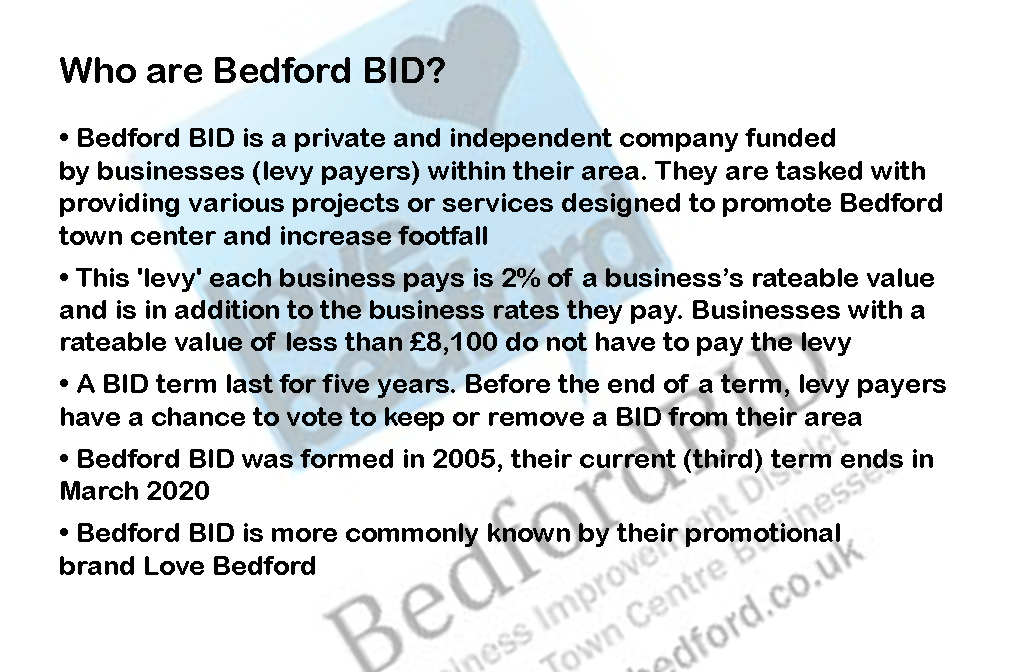 Who are Bedford BID